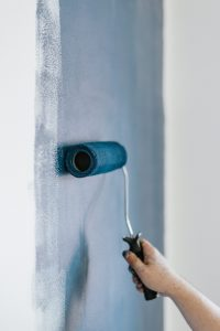 blå maling